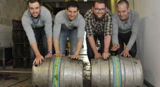 New owners of VoG brewer. [L-R] Joe Roach, Serge Luceau, Phil Newbould and Sean Murphy